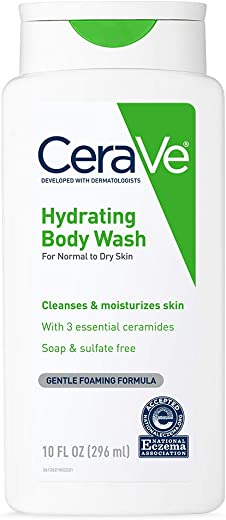 CeraVe Body Wash for Dry Skin   10 Ounce   Moisturizing Body Wash with Hyaluronic Acid   Sulfate & Fragrance Free